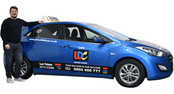 Lee Tolson's driving school car